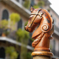 French quarter new orleans usa horses head design on railings in bourbon street in the of in louisiana in the united states of Stock Photo