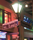 French Quarter Street Signs Royalty Free Stock Photo