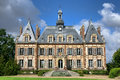 French renaissance revival antique mansion castle luxury country built in the nineteenth century historic style in nogent le roi Royalty Free Stock Photos
