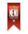 French restaurant texture banner illustration over white Royalty Free Stock Photo