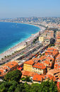 French riviera aerial view of in nice france Royalty Free Stock Photos