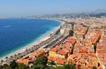 French riviera aerial view of in nice france Stock Photos