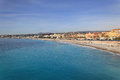 French riviera nice mediterranean sea and beach at in Stock Image