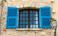 French shutters and windows traditional france Stock Image