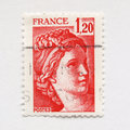 French stamp Royalty Free Stock Photo