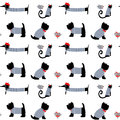 French style dressed animals seamless pattern.