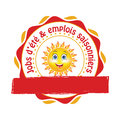 French Summer jobs offer sticker