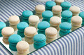 A french sweet delicacy macaroons on table Royalty Free Stock Images