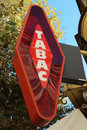 French Tabac Sign Royalty Free Stock Photo