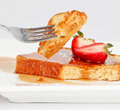 French toast drip Royalty Free Stock Image
