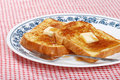 French toast syrup and fork Stock Photography