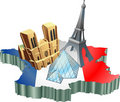 French tourism Royalty Free Stock Images