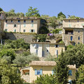 French Village, hilltop town in Provence. France. Royalty Free Stock Photography