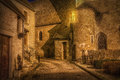 French village street in burgundy france Stock Photo