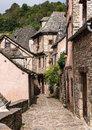 French village street narrow steet in a small in france Royalty Free Stock Photo