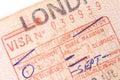 French Visa Royalty Free Stock Photo