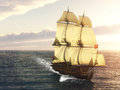 French warship a sails through the sea the sea are restless Royalty Free Stock Photos