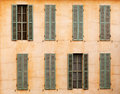 French windows with shutters Stock Image