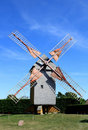 French wooden mill Pelard near Bouville Stock Photo