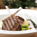 Frenched Lamb Cutlets Stock Photo