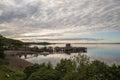 Frenchman Bay at dusk at Bar Harbor Maine USA Royalty Free Stock Photo