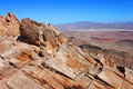 Frenchman mountain view nevada landscape seen from the summit of east of las vegas Stock Photography