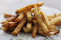 Frensh fries golden crispy french with salt and herbs Stock Photo