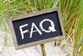 Frequently Asked Questions sign Royalty Free Stock Photo