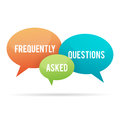 Frequently asked questions talk bubble vector illustration of or faq bubbles Royalty Free Stock Image
