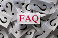 Frequently asked questions too many question marks Stock Images