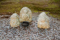 Frequently encountered form of offerings to Stone Idols Royalty Free Stock Photo