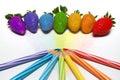 Fresa del arco iris Imagenes de archivo