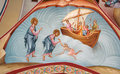 Fresco of Christ and apostle Peter Royalty Free Stock Photo