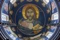 Fresco in monastery Royalty Free Stock Photo