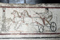 Fresco in the Paestum museum, Italy Royalty Free Stock Photo