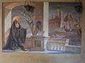 Fresco of Saint Benedict