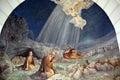 Fresco in Shepherd Field Chapel Royalty Free Stock Photo