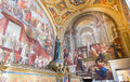 Fresco on the wall stanze di raffaello in the vatican museum in rome italy Stock Photo
