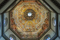 Frescoes of the dome of the Duomo - Florence Royalty Free Stock Photo