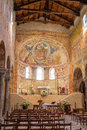 Frescoes medieval Cathedral of Chioggia, monuments, august 2016 Royalty Free Stock Photo