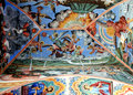 Frescoes of the Orthodox Church. Rila Monastery, Bulgaria Royalty Free Stock Photo