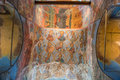 Frescoes on the vaults of the Assumption Cathedral Royalty Free Stock Photo