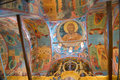 Frescoes on the walls of the Assumption Cathedral Royalty Free Stock Photo