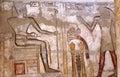 Frescos of Medinat Habu Royalty Free Stock Images