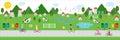 Fresh air village illustration