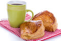 Fresh apple turnovers with coffee Royalty Free Stock Photo