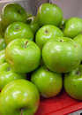 Fresh apples group of green Royalty Free Stock Photography