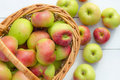 Fresh Apples Harvest In A Bask...
