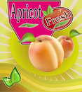 Fresh apricot juice banner is the most delicious drink Royalty Free Stock Photos