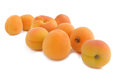 Fresh apricots  on white background Royalty Free Stock Photo